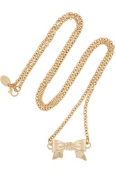 Red Valentino Gold Tone Bow Necklace
