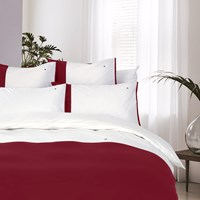 Tommy Hilfiger Colour Block Duvet Cover Red Red White