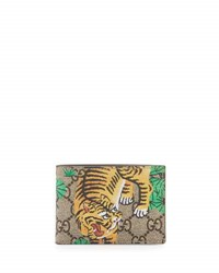Gucci Bengal Gg Supreme Wallet Beige