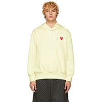 Comme Des Garcons Play Off White Heart Patch Hoodie