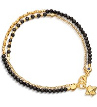 Astley Clarke Biography Fire Element Double Row Spinel And 18Ct Gold Plated Bracelet