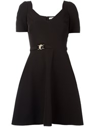 Versace Collection Flared Mini Dress Black