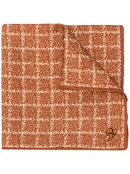 Canali Silk Pocket Square Brown
