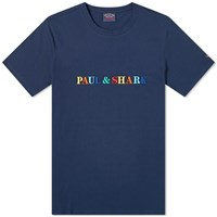 Paul And Shark Embroidered Logo Tee Blue