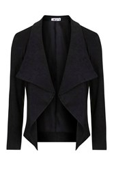 Suedette Blazer By Wal G Black