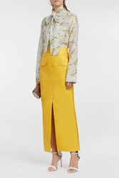 Merchant Archive Satin Twill Skirt Yellow