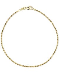 Giani Bernini Twist Rope Anklet In 18K Gold Plated Sterling Silver Created For Macy's