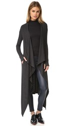Enza Costa Maxi Duster Cardigan Charcoal