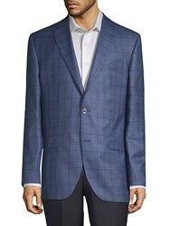 Jack Victor Conway Windowpane Sportcoat Blue