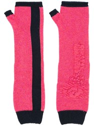 Barrie Fingerless Long Gloves Pink And Purple