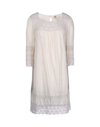 Local Apparel Short Dresses Beige