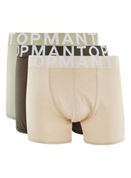 Topman Multi Assorted Colour Large Font Trunks 3 Pack