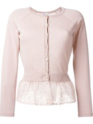 Red Valentino Lace Layer Cardigan Pink And Purple