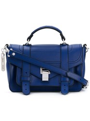 Proenza Schouler Ps1 Satchel Women Leather One Size Blue