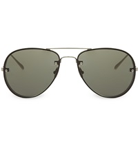 Linda Farrow Lfl30 Aviator Sunglasses White Gold