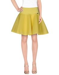 Cristinaeffe Skirts Mini Skirts Women Yellow