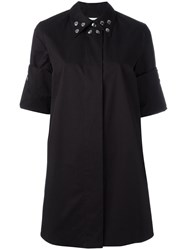 Maison Martin Margiela Mm6 Studded Collar Shirt Dress Black