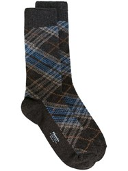 Church's Checked Socks Brown