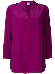 Aspesi V Neck Blouse Women Silk 40 Pink Purple