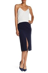 Laundry By Shelli Segal Crepe Cargo Pencil Skirt Blue
