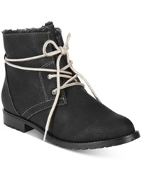 Sporto Jillian Lace Up Booties Women's Shoes Black