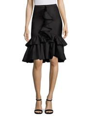 Tome Ruffle Mermaid Skirt Black
