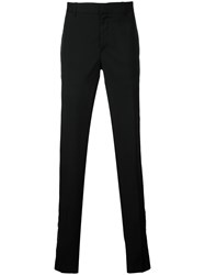 Alexander Mcqueen Straight Leg Trousers Men Acetate Viscose Mohair Wool 48 Black