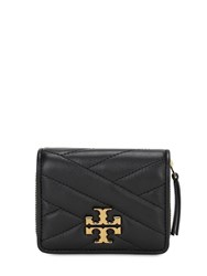 Tory Burch Mini Kira Quilted Leather Wallet Black