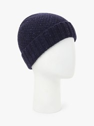 John Lewis And Partners Donegal Wool Hat Navy