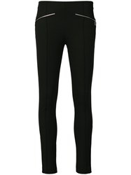 Michael Kors Collection Zip Detailed Skinny Trousers Black