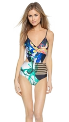Clover Canyon Liquid Jade One Piece Swimsuit Multi