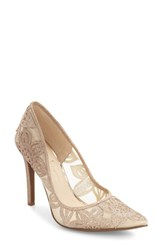 Jessica Simpson Women's Charese Pointy Toe Pump Moet Light Leather