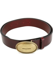 Dsquared2 Braided Metal Buckle Belt