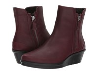 Ecco Skyler Wedge Boot Bordeaux Cow Leather Women's Boots Brown