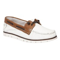 Lotus Silverio Leather Boat Shoes White
