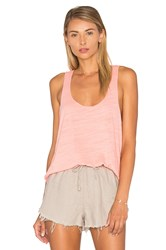 Heather Cotton And Gauze Tank Pink