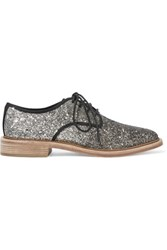 Marc By Marc Jacobs Glittered Canvas Brogues Black