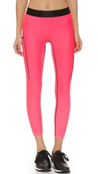 Monreal London Cropped Booster Leggings Neon Pink