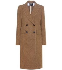 Isabel Marant Danki Alpaca And Virgin Wool Coat Brown