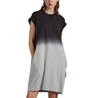 Atm Anthony Thomas Melillo Gradient Dyed Cotton French Terry Dress Gray