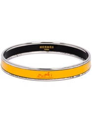 Hermes Vintage Logo Bangle Yellow And Orange