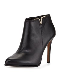 Vince Camuto Leanna Leather High Heel Bootie Black