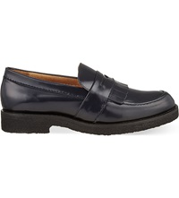 Whistles Kalo Fringed Loafers Navy