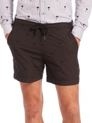 Tomas Maier Palm Tree Shorts Black