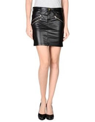 Shine Mini Skirts Black