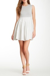 Gracia Pleated Fit And Flare Dress White