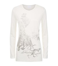 Escada Sport Glitter Front T Shirt Female White