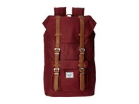 Herschel Little America Mid Volume Winetasting Crosshatch Tan Synthetic Leather Backpack Bags Red