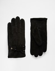 Peter Werth Suede Gloves Black