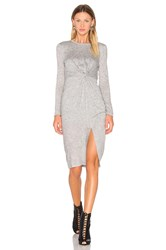 Kendall Kylie Knotted A Line Midi Dress Gray
